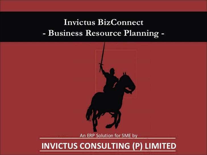 Invictus BizConnect - Business Resource Planning - An ERP Solution for SME by INVICTUS CONSULTING (P) LIMITED