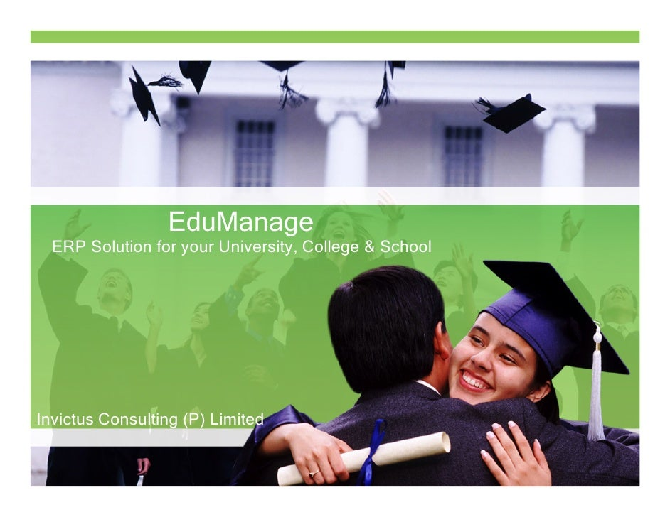 EduManage  ERP Solution for your University, College & SchoolInvictus Consulting (P) Limited