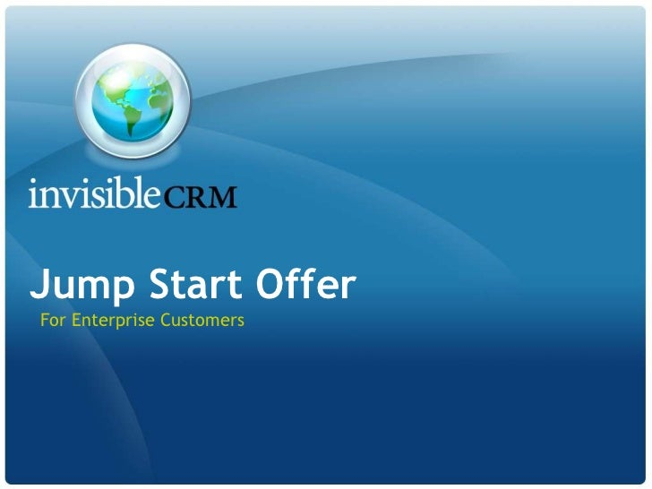 InvisibleCRM Jump Start Offer for Siebel CRM Desktop
