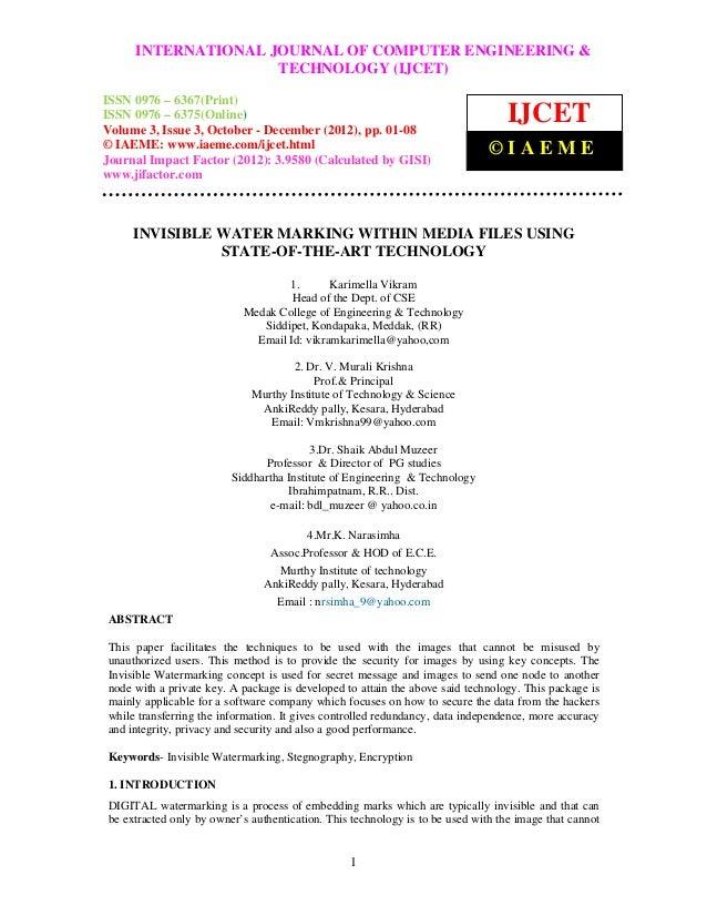 International Journal of Computer Engineering COMPUTER ENGINEERING & –     INTERNATIONAL JOURNAL OF and Technology (IJCET)...