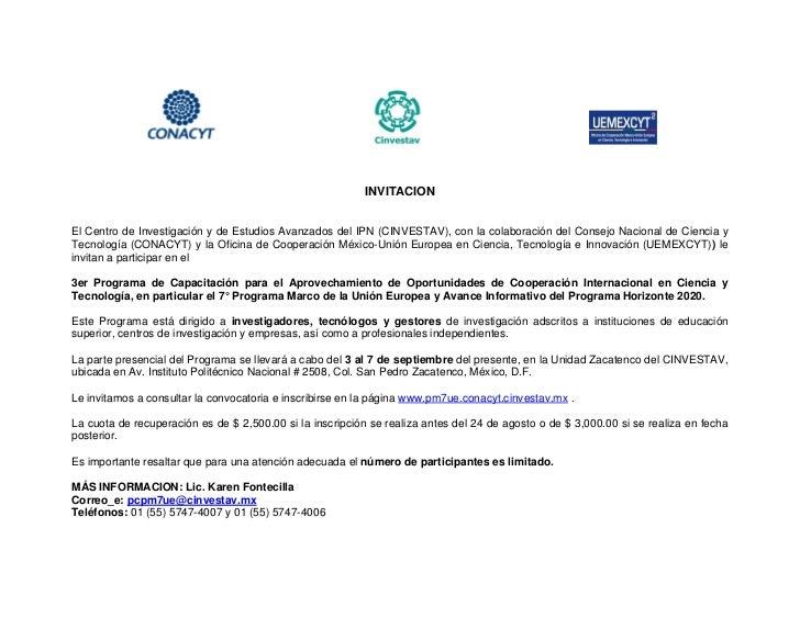 Invitación a 3er programa de capacitación 7 pm   convocatorias abiertas