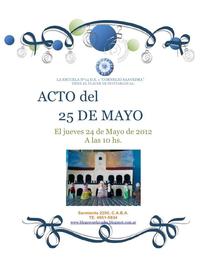 Acto 25 De Mayo