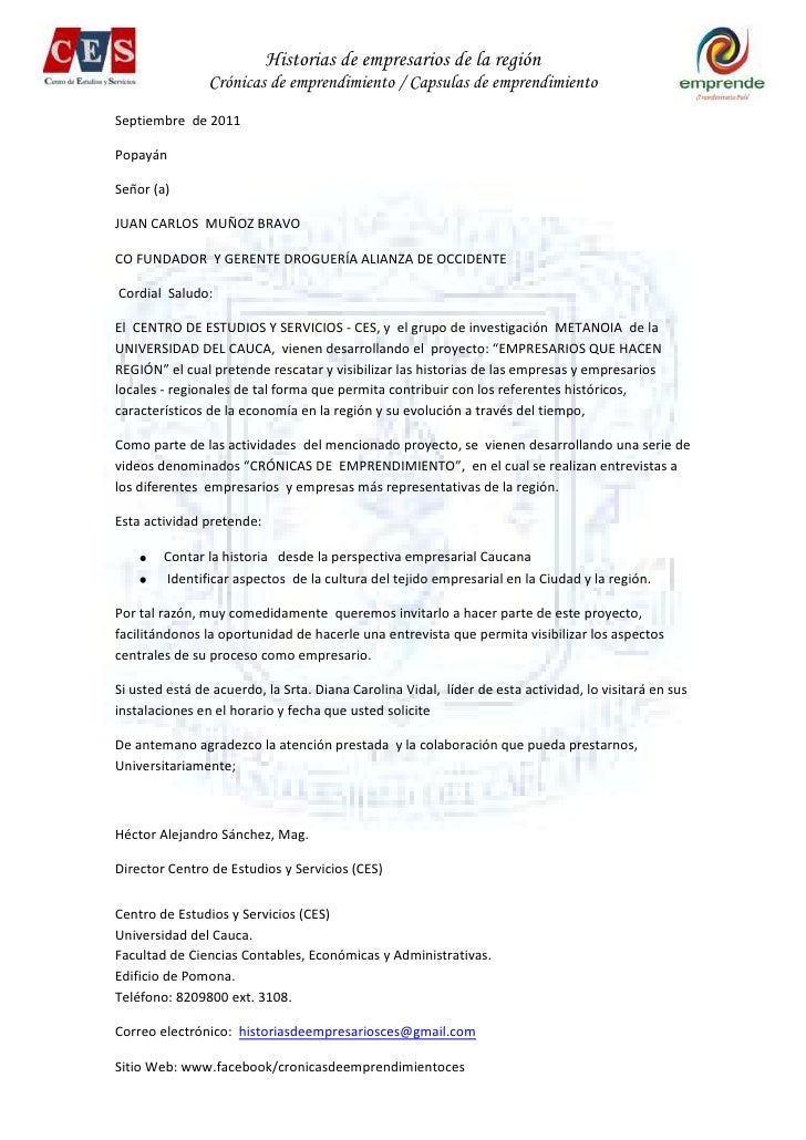 Septiembre  de 2011<br />Popayán<br />Señor (a) <br />JUAN CARLOS  MUÑOZ BRAVO<br />CO FUNDADOR  Y GERENTE DROGUERÍA ALIAN...