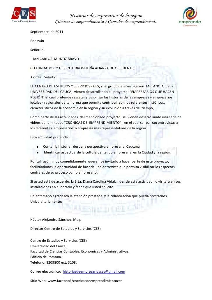 Carta - Invitación empresarios