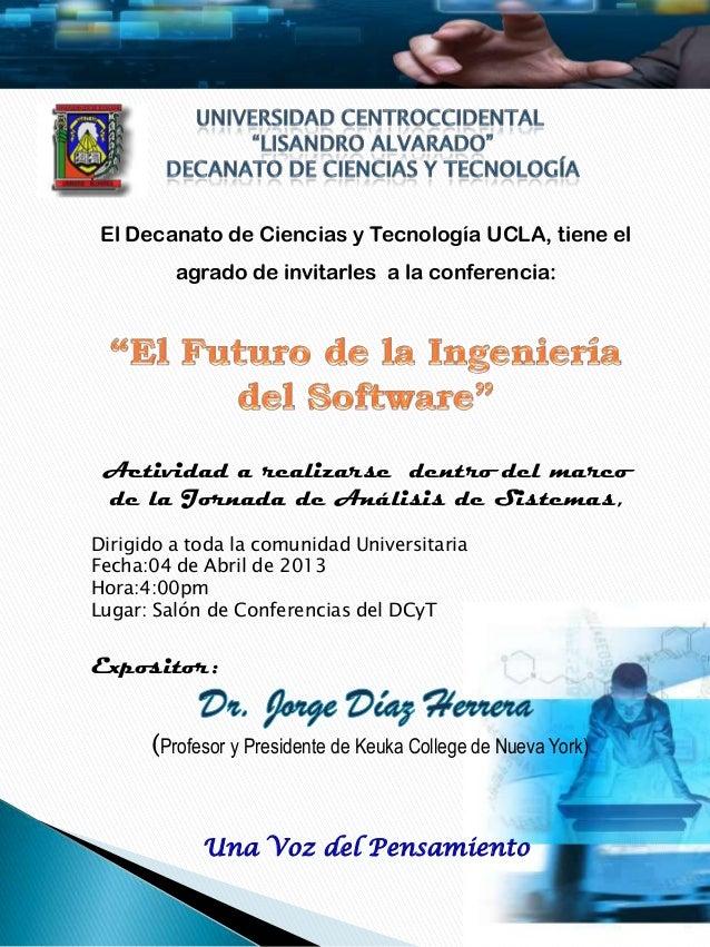 Invitacion conferencia