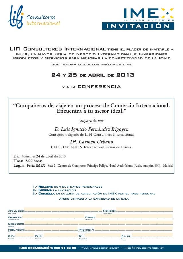 Consultores                            Internacional                                                                      ...