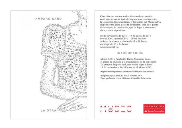 Invitación a la exposición 'La otra' de Amparo Sard