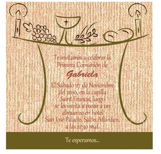 Invitaciones primera comunion - Invitaciones comunion busquets ...