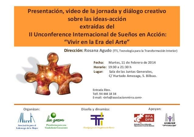 Invitación Tendencias Emergentes II Unconference Internacional de Sueños en Acción