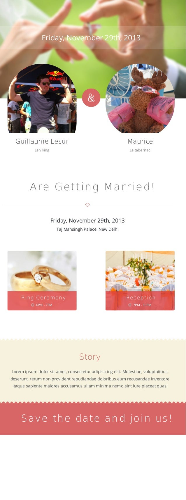 Friday, November 29th, 2013 Guillaume Lesur Le viking Maurice Le tabernac Are Getting Married!  Friday, November 29th, 20...