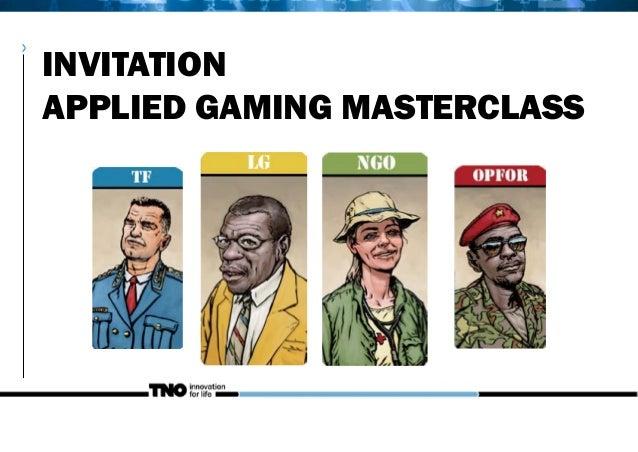 INVITATIONAPPLIED GAMING MASTERCLASS>