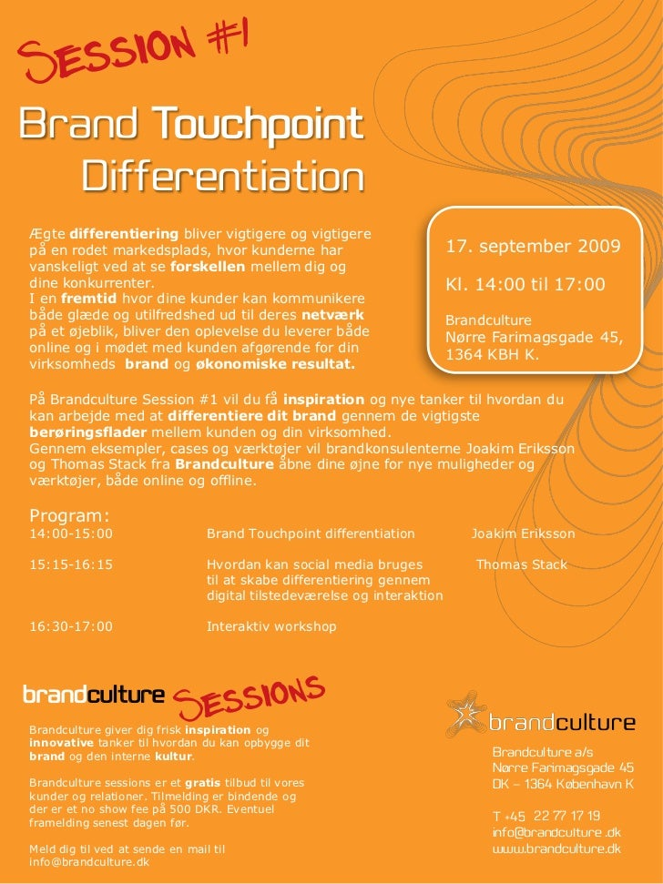 Invitation Brandculture Session #1