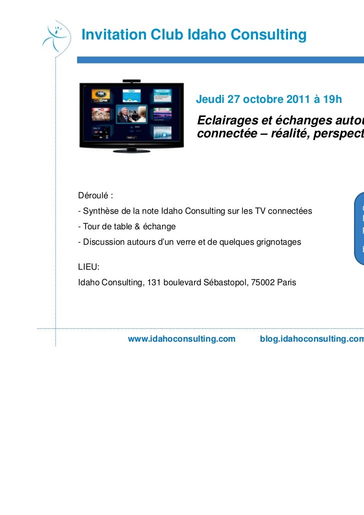 Invitation Club Idaho Consulting                              Jeudi 27 octobre 2011 à 19h                              Ecl...