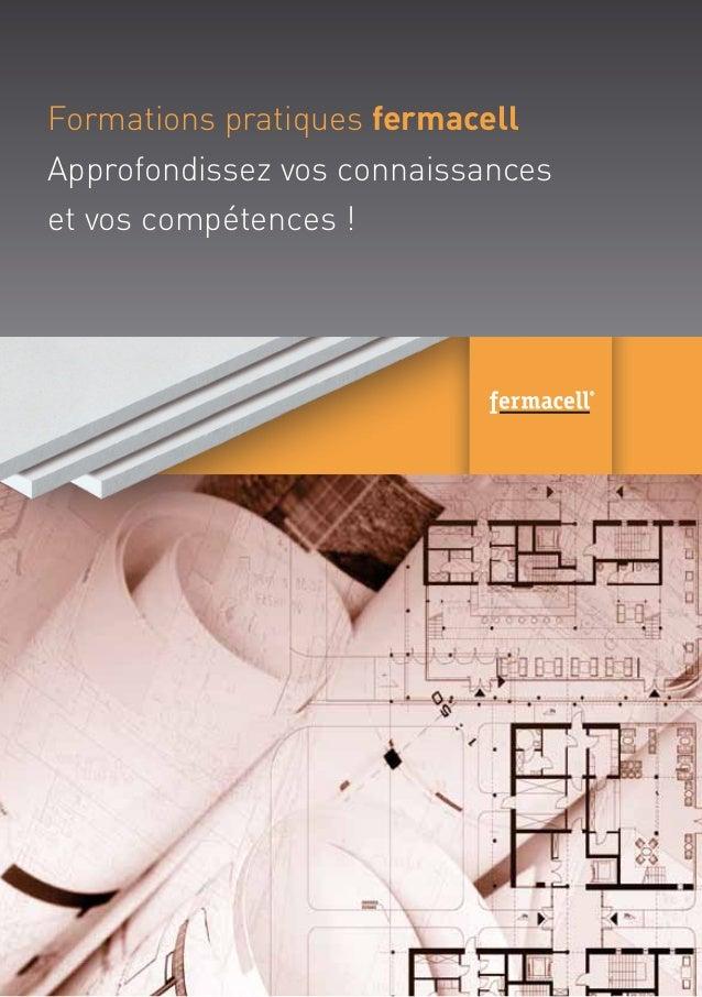 Invitation Formation pratique fermacell (Wallonie et Luxembourg)