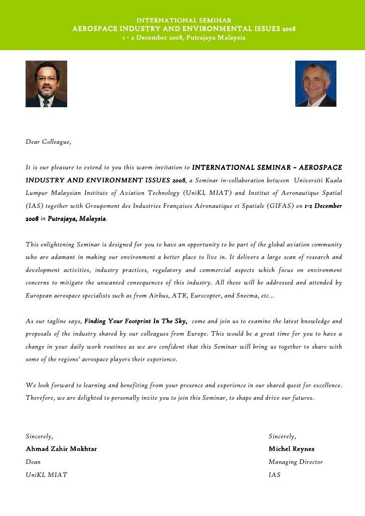 28 Seminar Invitation Letter Template
