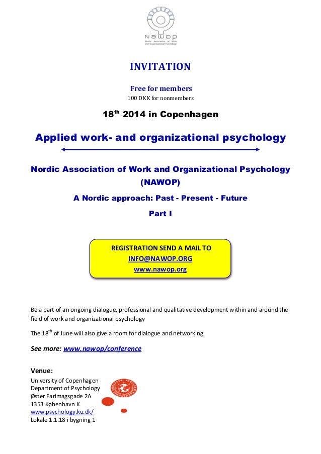 Applying organizational psychology paper