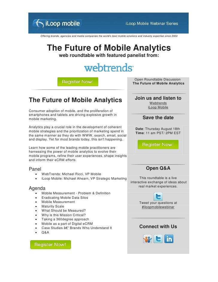 Webinar Invitation: The future of analytics