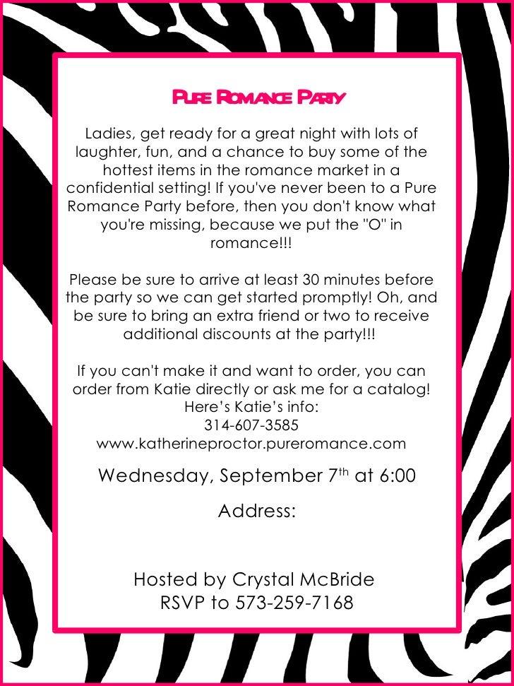 Pure Romance Party Invitation Template - Free Custom Invitation Template Design | Verrado Drift