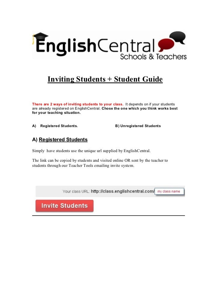 Inviting Students And User Guide