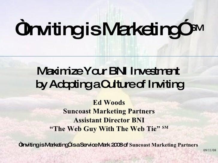 Inviting Is Marketing (c)