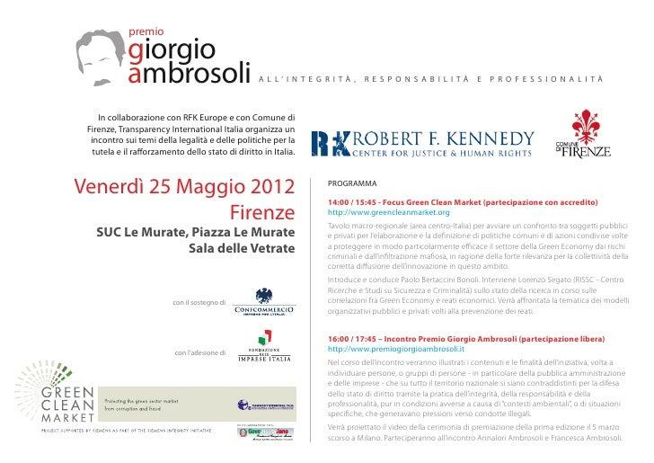 Premio Giorgio Ambrosoli Firenze