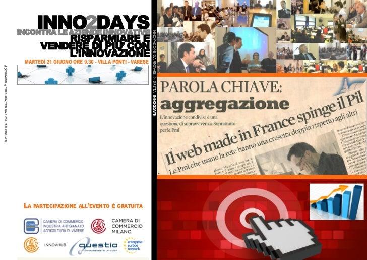 L'invito a Inno2Days il 21 giugno a Varese