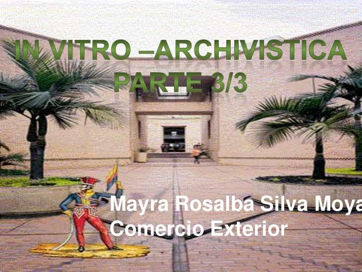 In vitro   archivistica parte 3