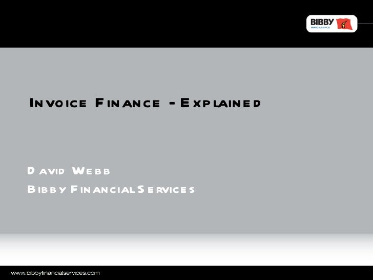 Invoice finance   explained