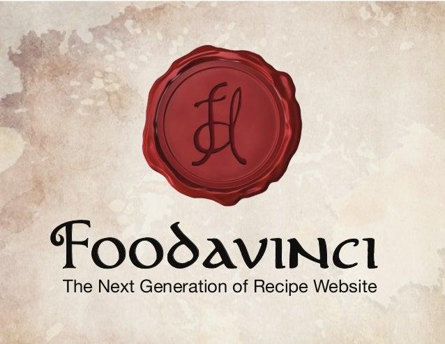 FOODAVINCI The Next Generation of Recipe Website
