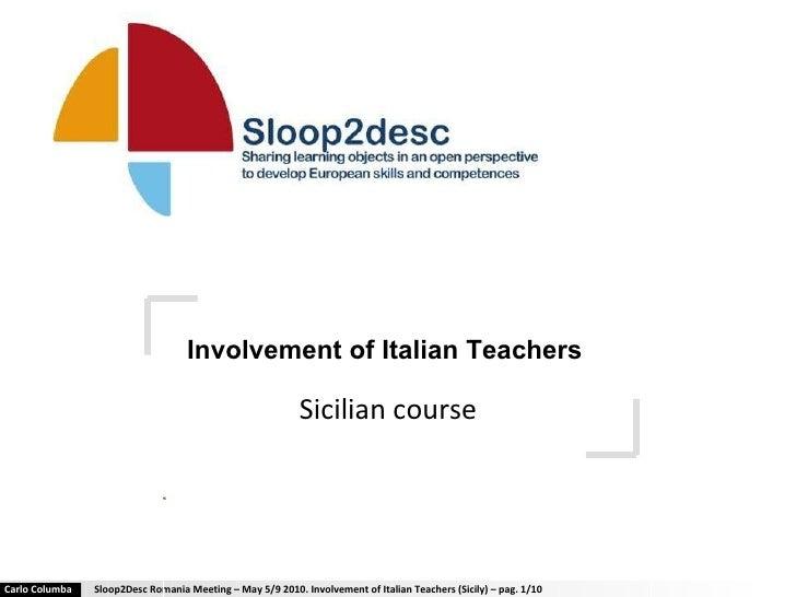 Involvement of Italian Teachers   Sicilian course