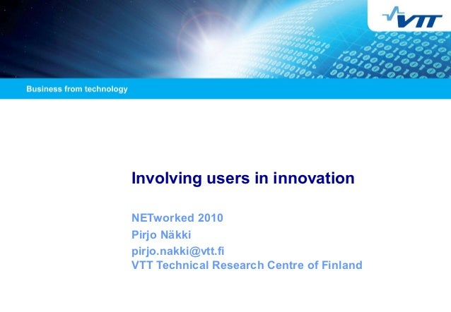 Involving users in innovation