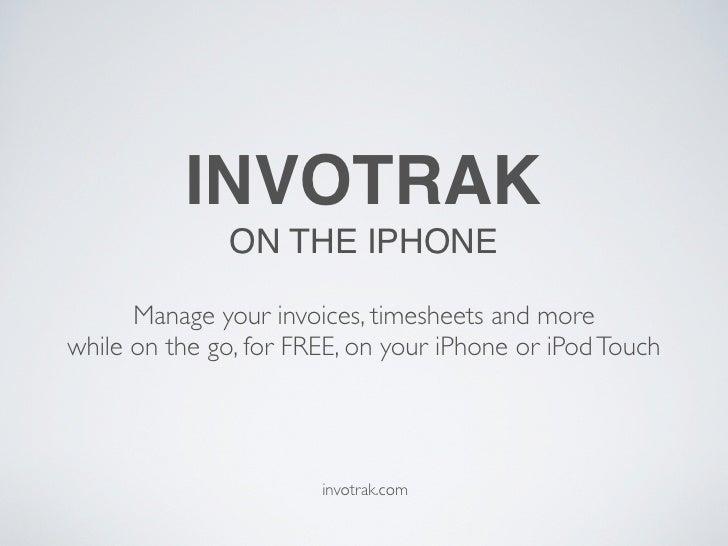 Invotrak on the iPhone