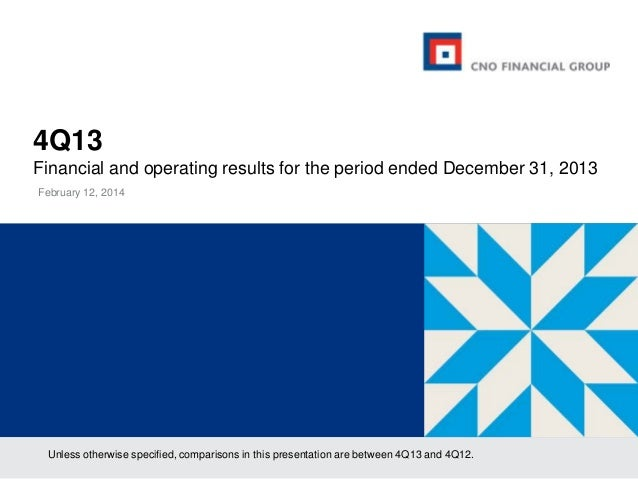 4Q13 Financial and operating results for the period ended December 31, 2013 February 12, 2014  Unless otherwise specified,...