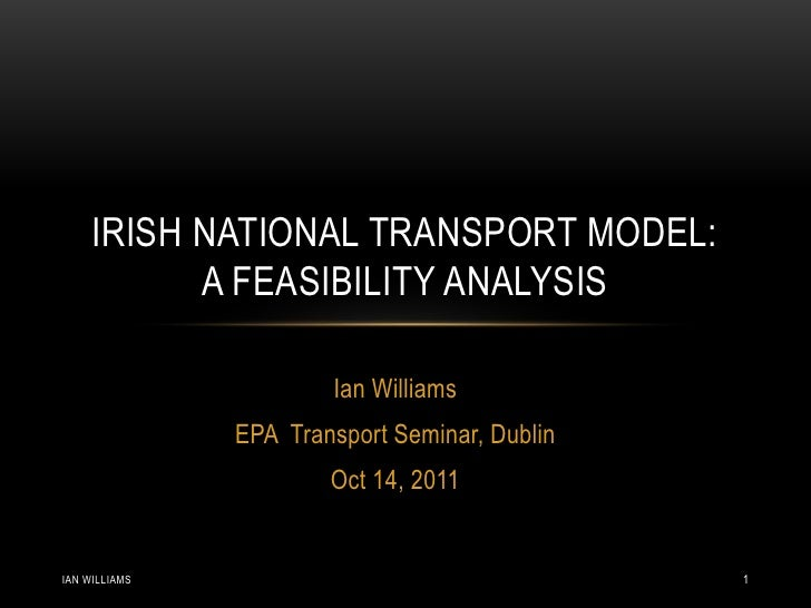 Irish National Transport Model: A feasibility analysis - Ian Williams