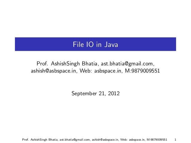 Java I/O Part 2