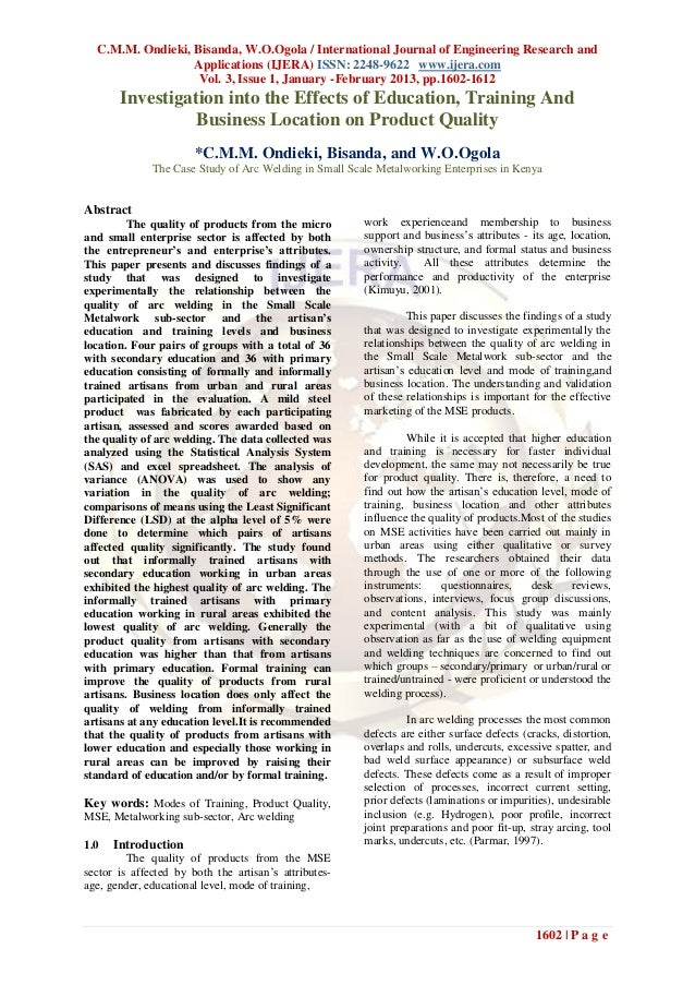 C.M.M. Ondieki, Bisanda, W.O.Ogola / International Journal of Engineering Research and                  Applications (IJER...
