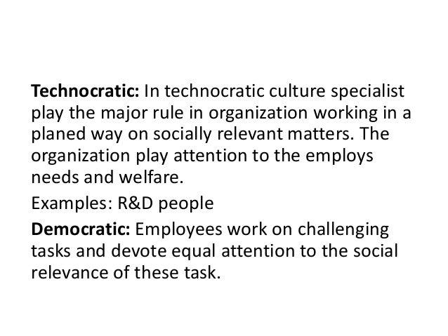 Dominant Technocratic Culture