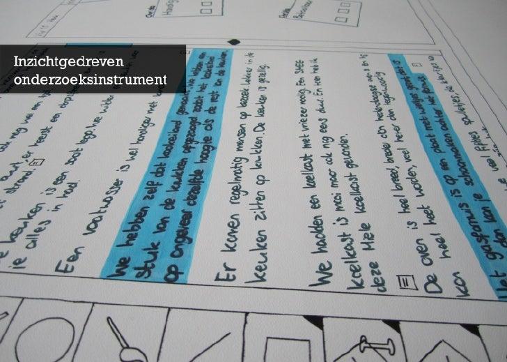 Inzichtgedreven Onderzoeksinstrument | Afstudeersymposium140710