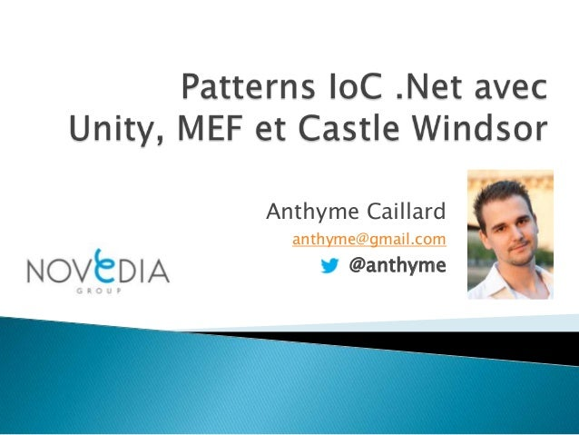 Anthyme Caillard anthyme@gmail.com  @anthyme