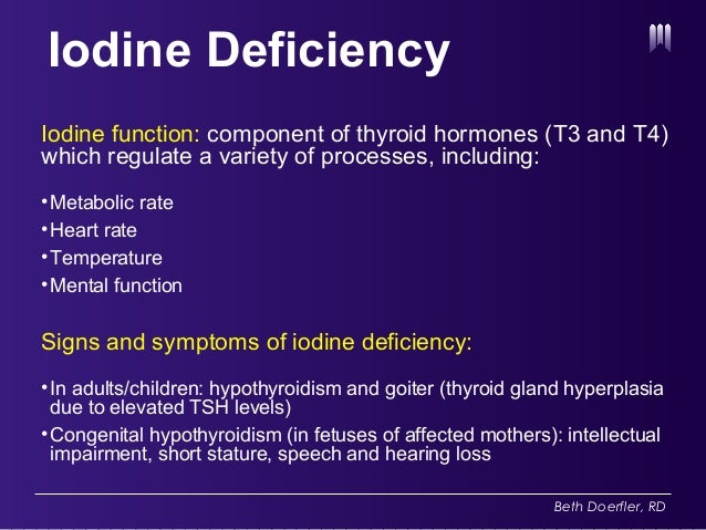 Iodine Deficiency Insufficiency And Public Health