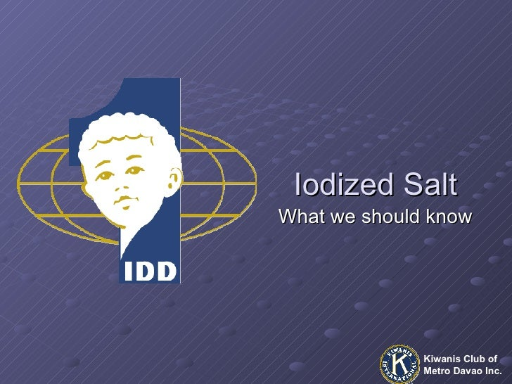 Iodized Salt What we should know