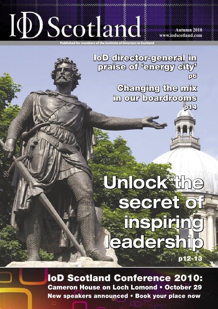 Positive Leadership Article in IOD Scotland Newsletter
