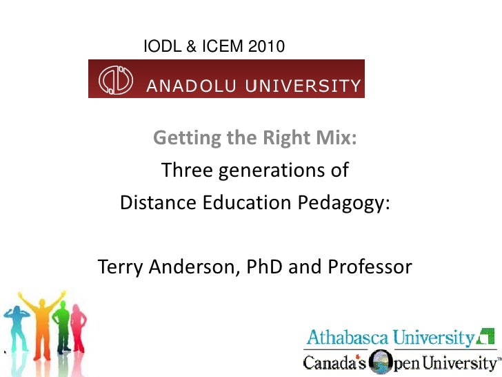 IODL & ICEM 2010           Getting the Right Mix:        Three generations of   Distance Education Pedagogy:  Terry Anders...