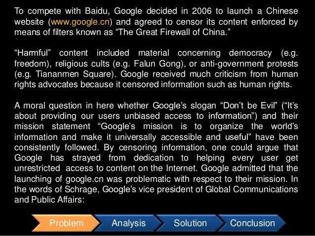 case study google in china 2 essay