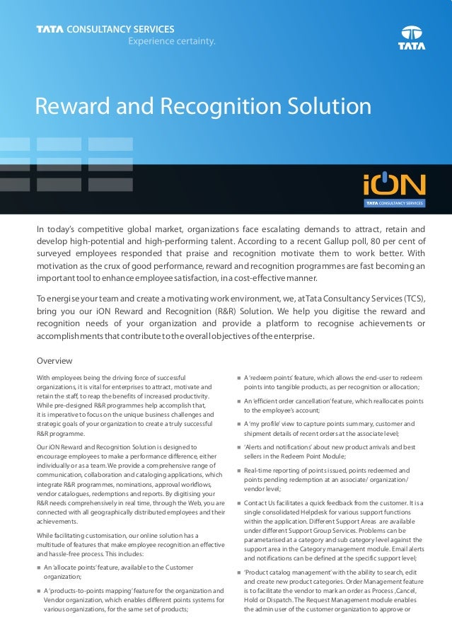 Reward and Recognition SolutionIn today's competitive global market, organizations face escalating demands to attract, ret...