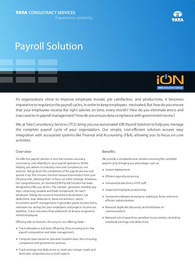 Payroll SolutionAs organizations strive to improve employee morale, job satisfaction, and productivity, it becomesimperati...