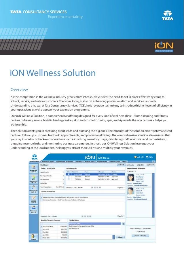 iON Wellness SolutionOverviewAs the competition in the wellness industry grows more intense, players feel the need to set ...