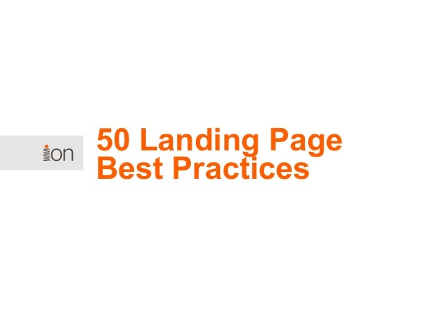 50 Landing Page Best Practices