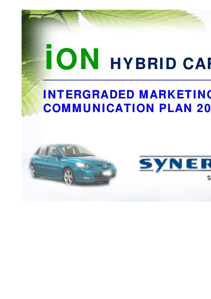 iON HYBRID CAR IMC Plan 2008                By