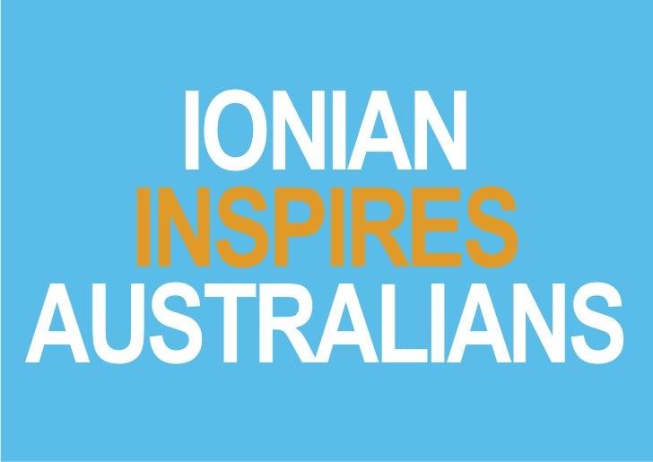 IONIAN  INSPIRESAUSTRALIANS